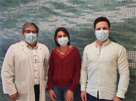 CHTS vai lançar programa digital de enfermagem de reabilitação para utentes de Ortopedia - Enfermeiro Diretor, José Ribeiro, e os enfermeiros Elsa Rodrigues e Tiago Araújo